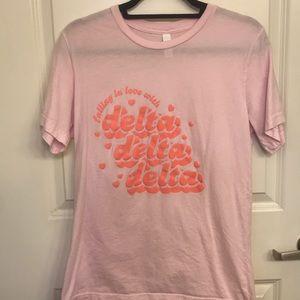 Light pink Tri Delta shirt